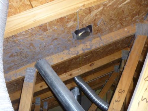 home inspection dryer vent exhausting into attic