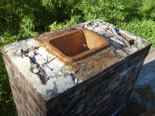 home inspection deteriorated chimney crown and cap